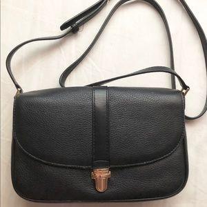 Micheal Kors black leather Charlton crossbody